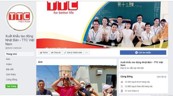 Fanpage Facebook Xuất khẩu lao động Nhật Bản