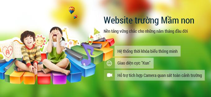 Thiết kế web mầm non tại Vĩnh Phúc